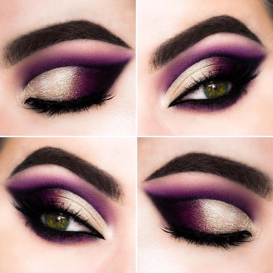 Cut crease roxo esfumado