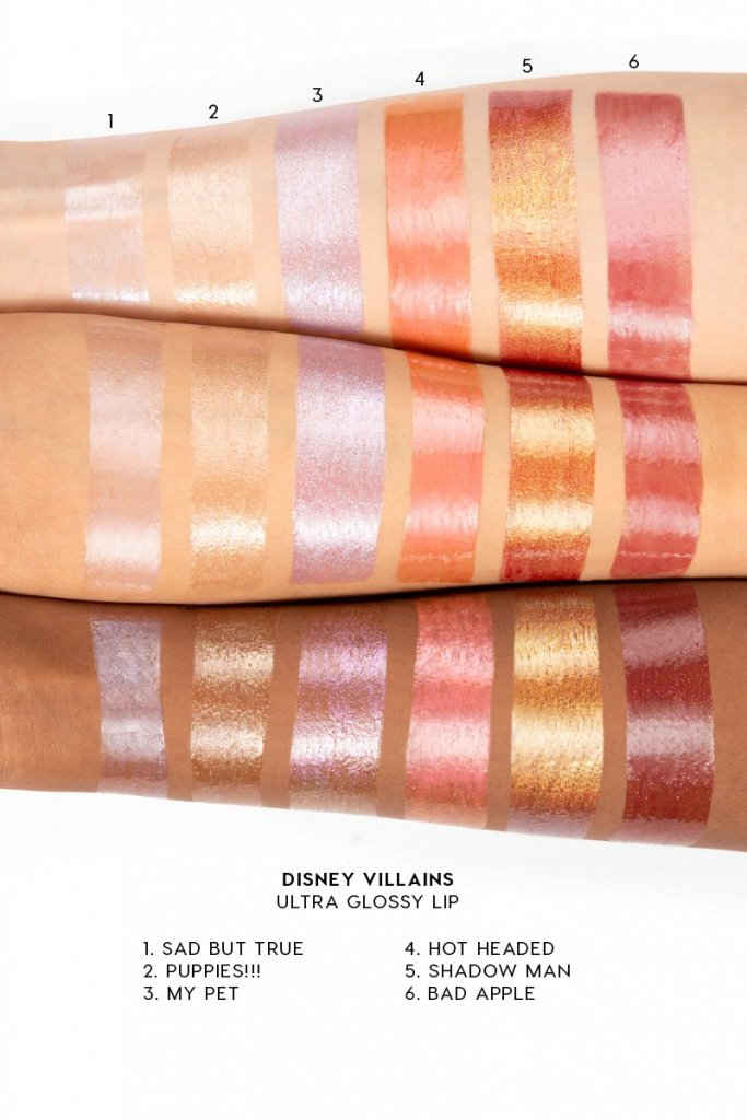 Swatches dos glosses ultra